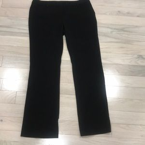 Black Editor straight legged trousers from Express